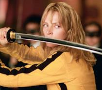 Uma Thurman in una scena di Kill Bill: Volume 1