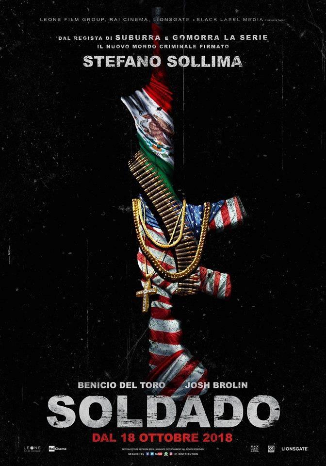 Poster italiano di Soldado, nuovo film di Sollima