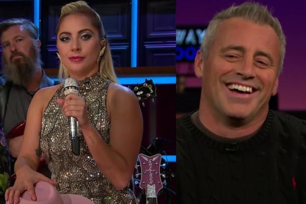 Lady Gaga e Matt LeBlanc al Late Late Show