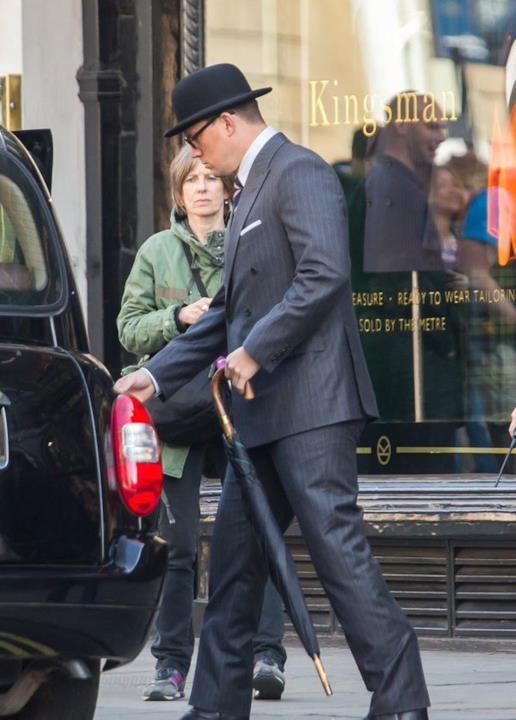 Channing Tatum durante una scena di Kingsman 2
