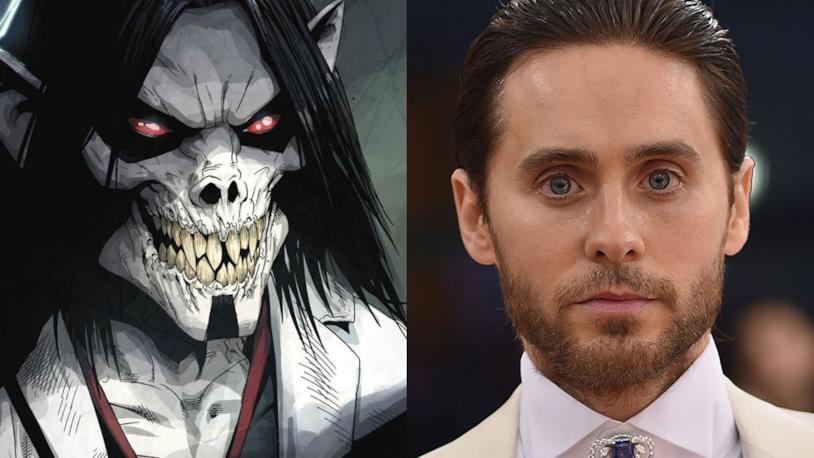 Morbius e l'attore Jared Leto a confronto