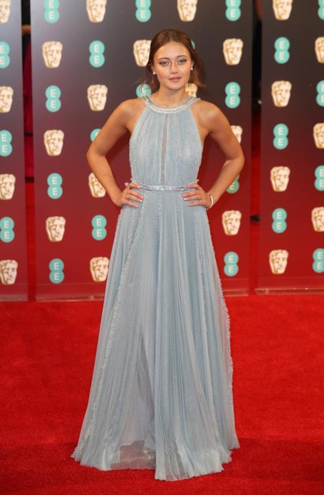 Ella Purnell in Miu Miu ai BAFTA