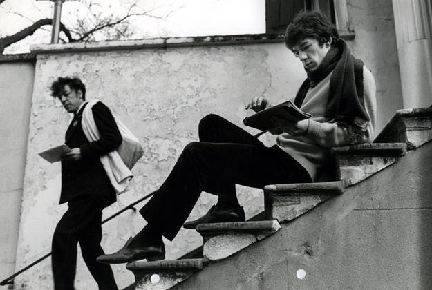 Ian McKellen da giovane in una foto in bianco e nero
