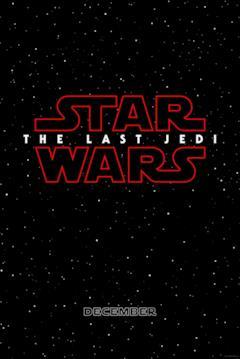 Locandina con logo rosso di Star Wars - Gli ultimi Jedi