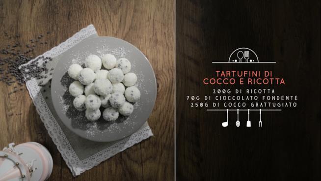 La ricetta dei tartufini al cocco e ricotta