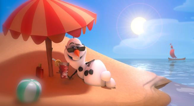 Olaf in una scena di Frozen