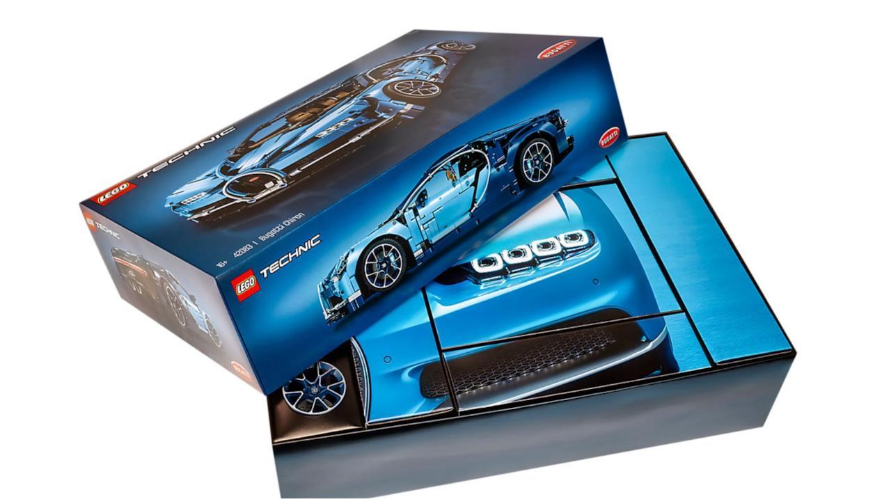 La confezione del modellino della LEGO Bugatti Chiron