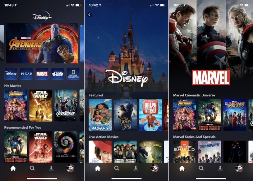 Come appare Disney+ su iPhone X di Apple