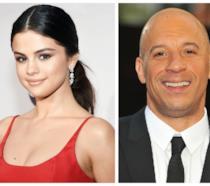 Primo piano di Selena Gomez e Vin Diesel