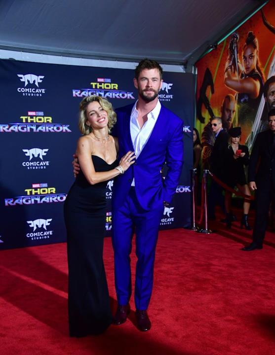 Elsa Pataky e Chris Hemsworth all'anteprima mondiale di Thor: Ragnarok
