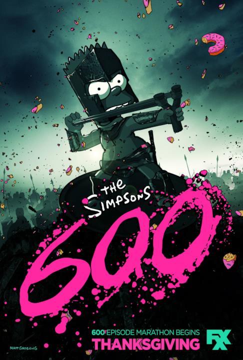 I Simpson festeggiano il raggiungimento dei 600 episodi e omaggiano Zack Snyder e il film 300 in una clip