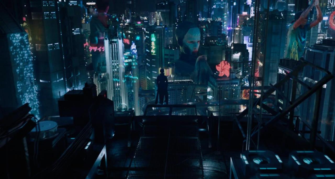 La vista aerea di una metropoli del film