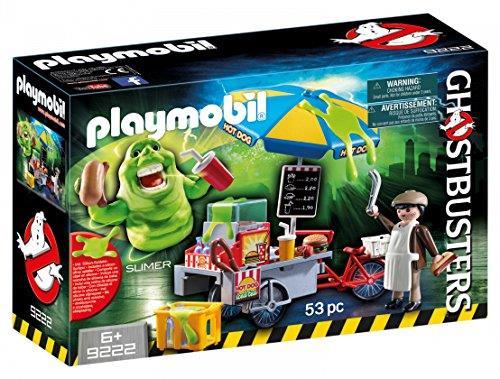 Slimer e il carretto degli hot dog giocattolo Playmobil