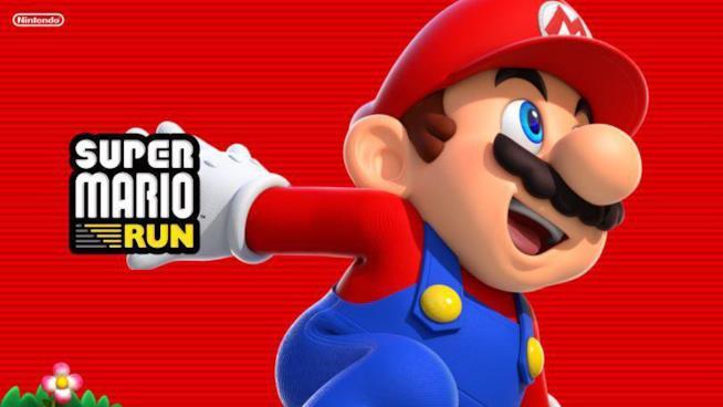 Super Mario in azione sulla cover di Super Mario Run