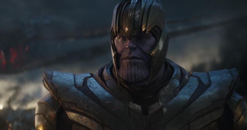 Josh Brolin nei panni di Thanos in Avengers: Endgame