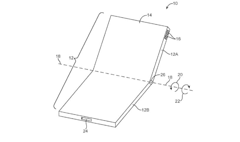 L'iPhone pieghevole illustrato in un brevetto di Apple