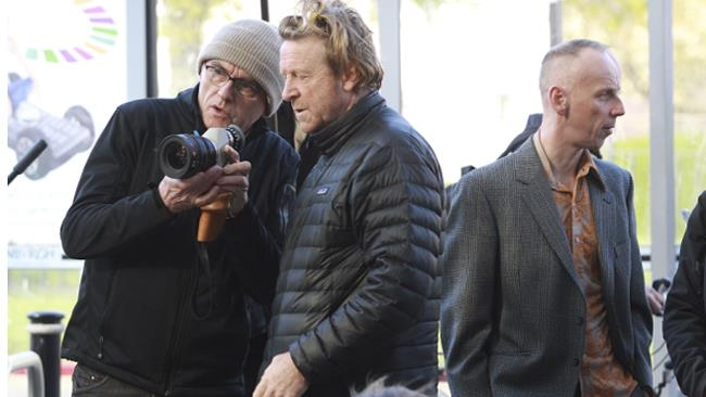 Danny Boyle sul set del film Trainspotting 2