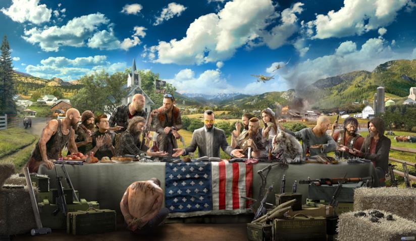 La copertina ufficiale di Far Cry 5