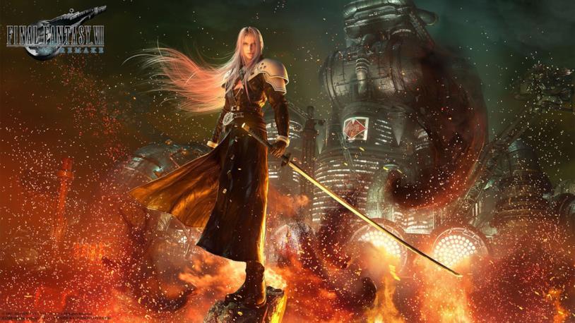 Sephiroth in un'immagine promozionale di Final Fantasy VII Remake
