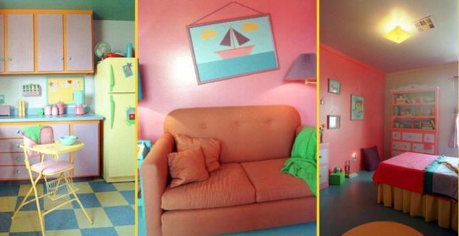 Le stanze di Casa Simpson, nella casa costruita in Nevada