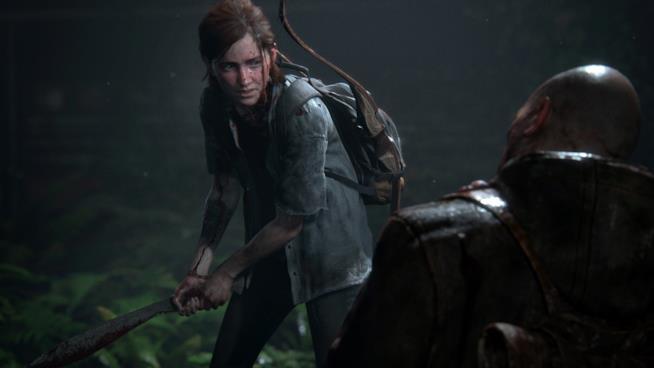 Ellie combatte in The Last of Us Part II