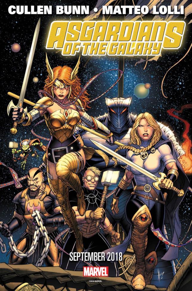 La cover di Asgardians of the Galaxy #1