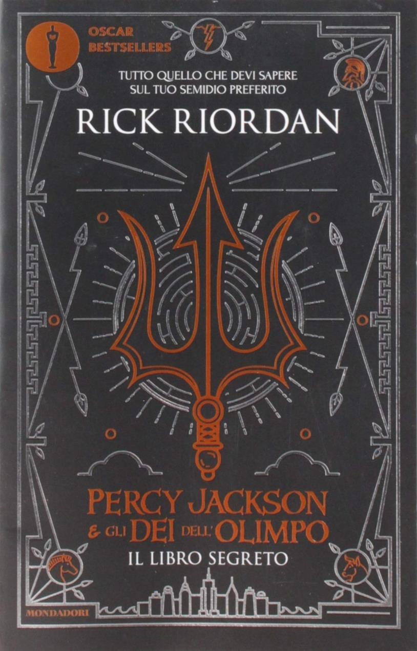 La copertina di Percy Jackson e gli dei dell'Olimpo. Il libro segreto