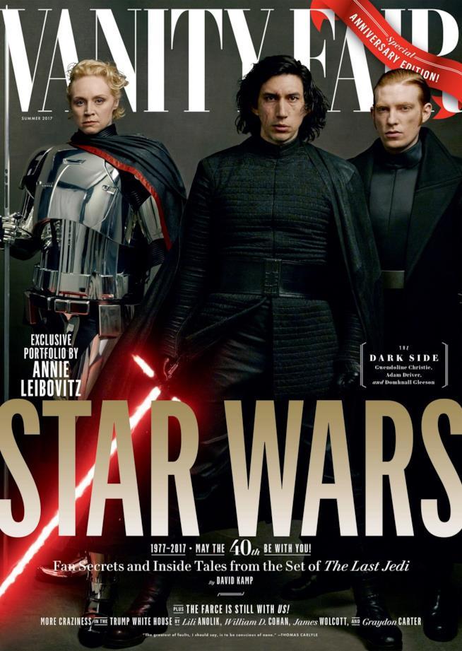 Vanity Fair: il Capitano Phasma, Kylo Ren e il Generale Hux