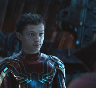 Tom Holland nei panni di Spider-Man in Avengers: Infinity War