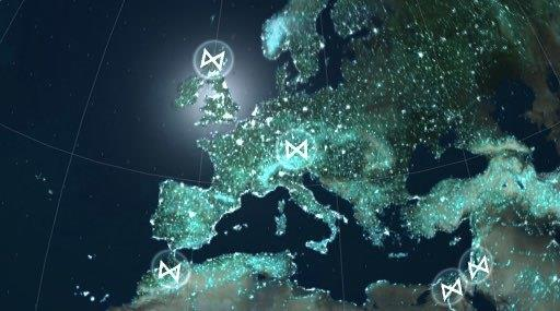 La mappa che mostra le basi operative del M.O.N.A.R.C.H.