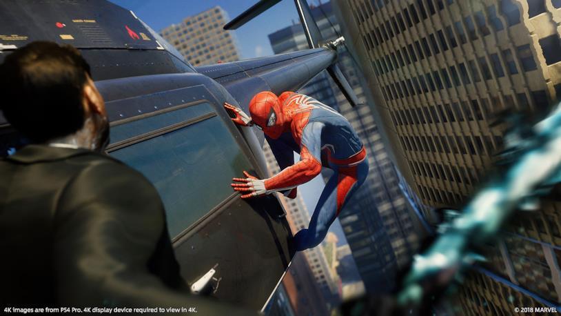 Spider-Man in azione nel nuovo videogioco su PS4