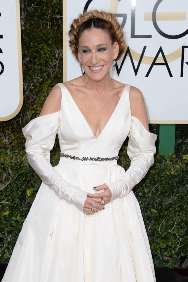 Sarah Jessica Parker durante i Golden Globes