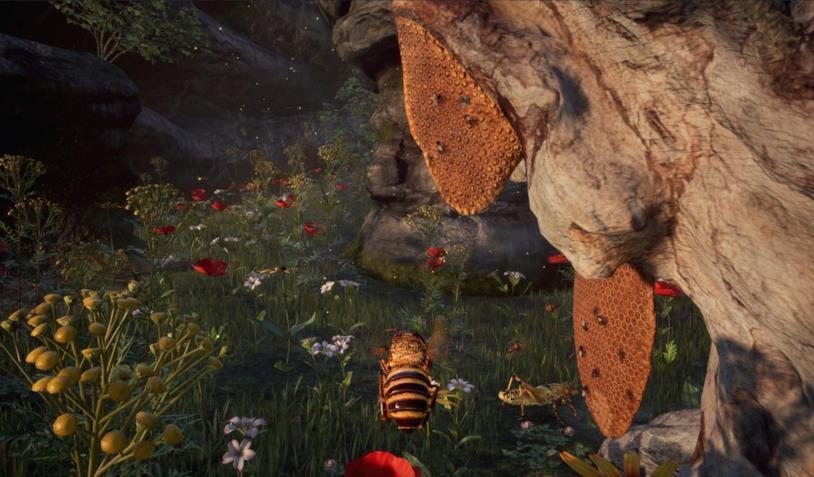 Uno scorcio di gameplay da Bee Simulator