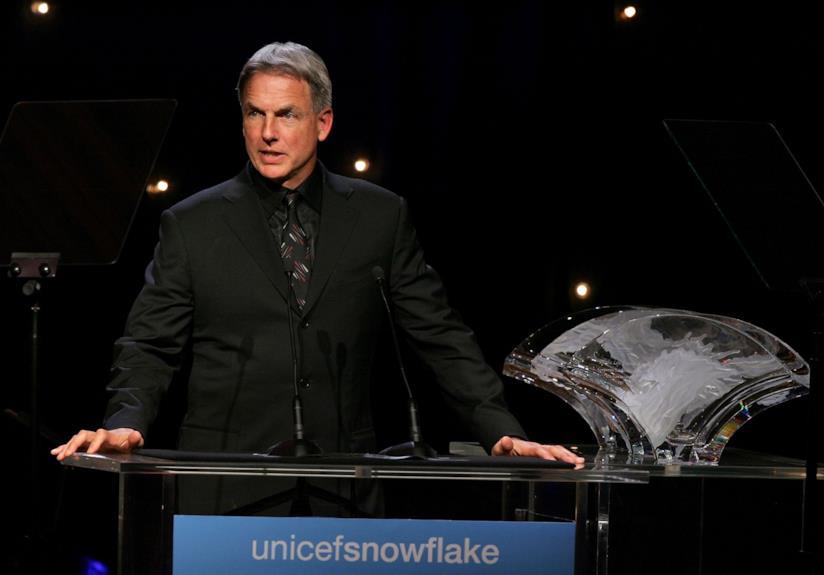 L'attore Mark Harmon a una conferenza dell'Unicef