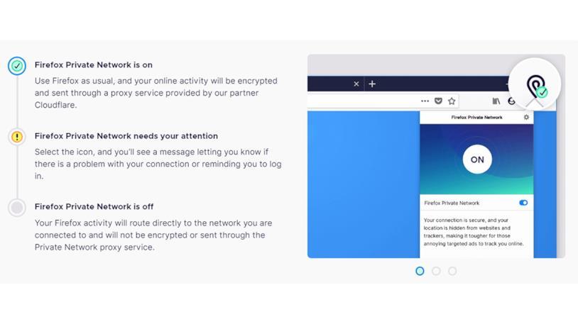 La VPN di Firefox modifica l'indirizzo IP del dispositivo facendovi navigare in sicurezza