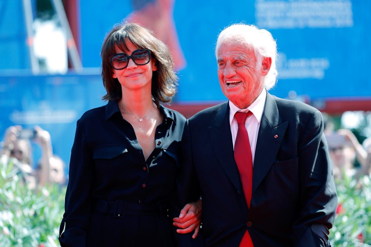 Jean-Paul Belmondo e Sophie Marceau a Venezia 73